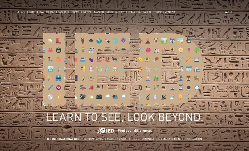 Ied lancia la campagna 'Learn to see, look beyond'